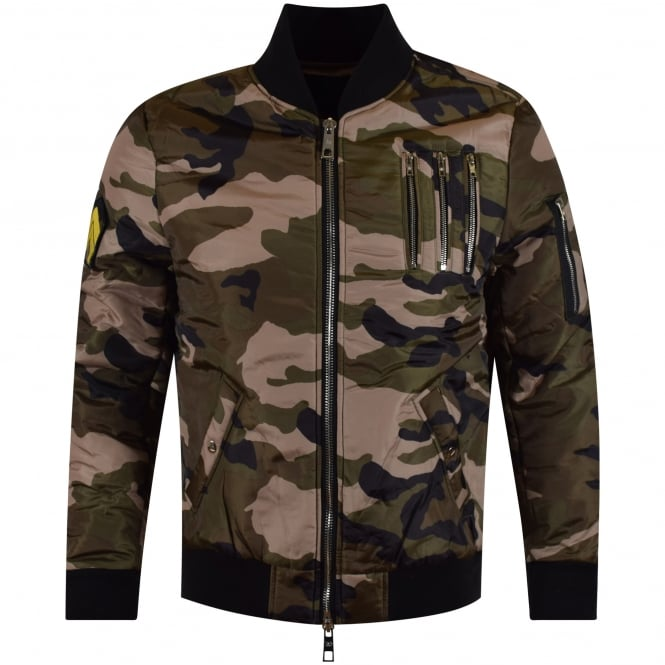 THE NEW DESIGNERS Green Camo Bomber Jacket