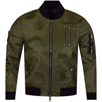 The New Designers Khaki/Khaki Patch Lightweight MA1 Bomber Jacket