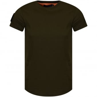 The New Designers Khaki Patch T-Shirt