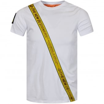 The New Designers White Body Tape T-Shirt