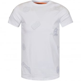 The New Designers White/White Multi Patch T-Shirt