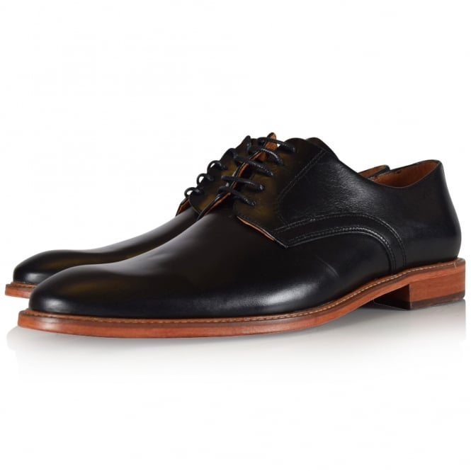 THOMAS FINLEY Black Leather Formal Shoes