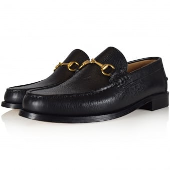Thomas Finley Black Leather Loafers