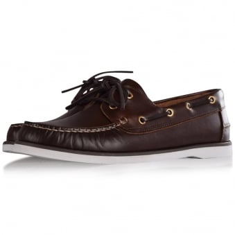 Thomas Finley Brown Leather Boat Shoes