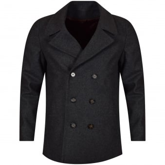 Thomas Finley Grey Double Breasted Woolen Jacket