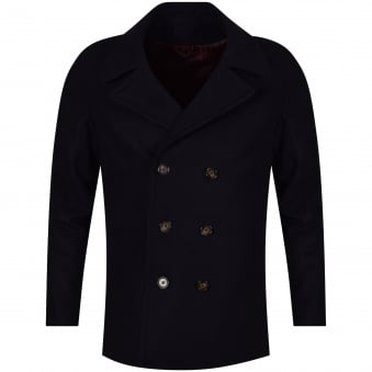 Thomas Finley Navy Double Breasted Woolen Jacket