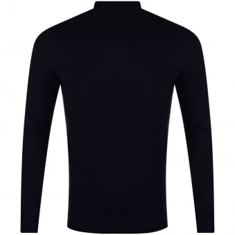 Thomas Finley Navy Roll Neck Jumper