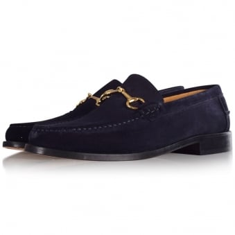 Thomas Finley Navy Suede Loafers
