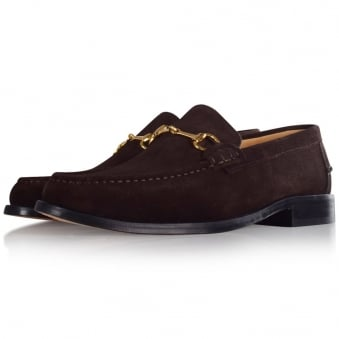 Thomas Finley Brown Suede Loafers