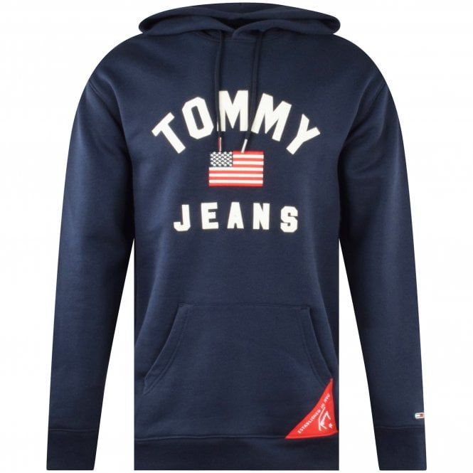 TOMMY JEANS Navy Oversized Americana Hoodie Front