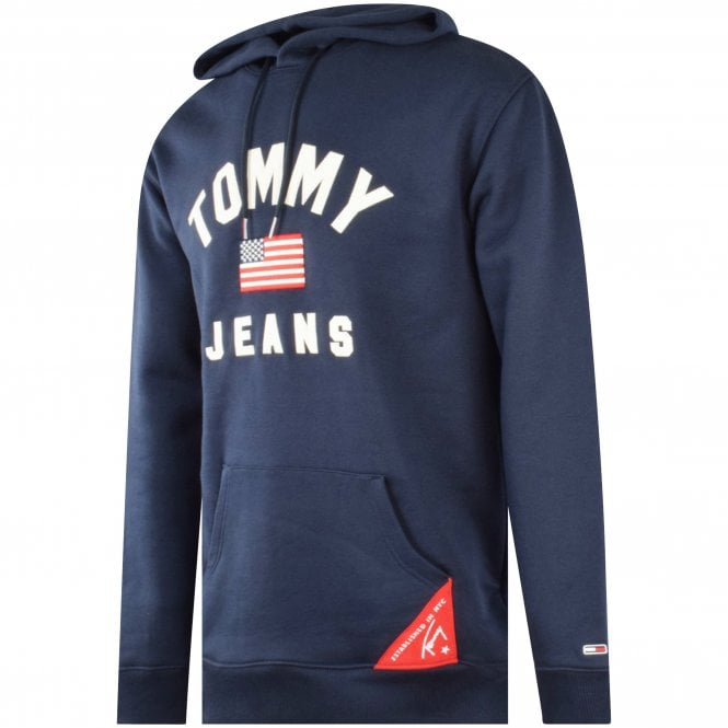 TOMMY JEANS Navy Oversized Americana Hoodie Side