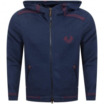 True Religion Ace Blue Hooded Top