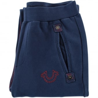 True Religion Ace Blue Tracksuit Bottoms
