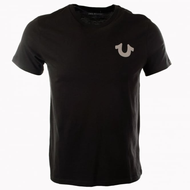 TRUE RELIGION Black Crafted With Pride Crew Neck T-Shirt