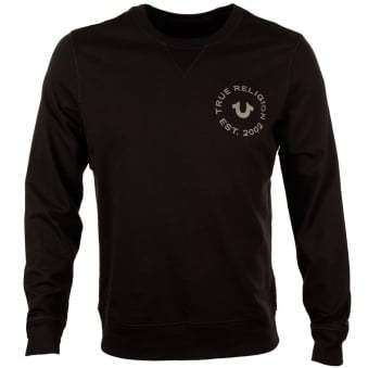 True Religion Black Crafted With Pride Sweatshirt