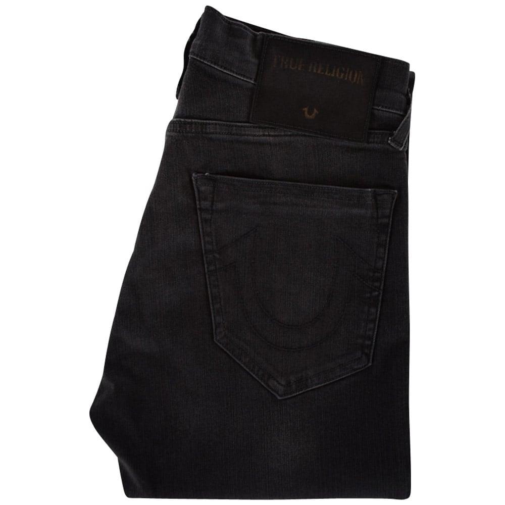 6adedccf6 TRUE RELIGION True Religion Black Destroyed Rocco Skinny Fit Jeans ...