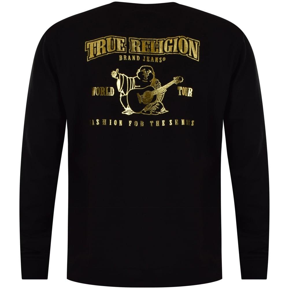9e66c1ace TRUE RELIGION True Religion Black Gold Back Logo Sweatshirt ...