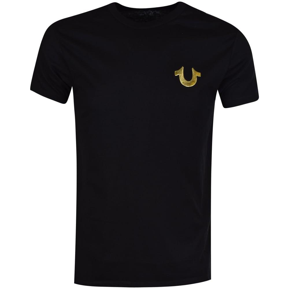 900a745fa9590 TRUE RELIGION True Religion Black Gold Buddha Logo T-Shirt - Men ...