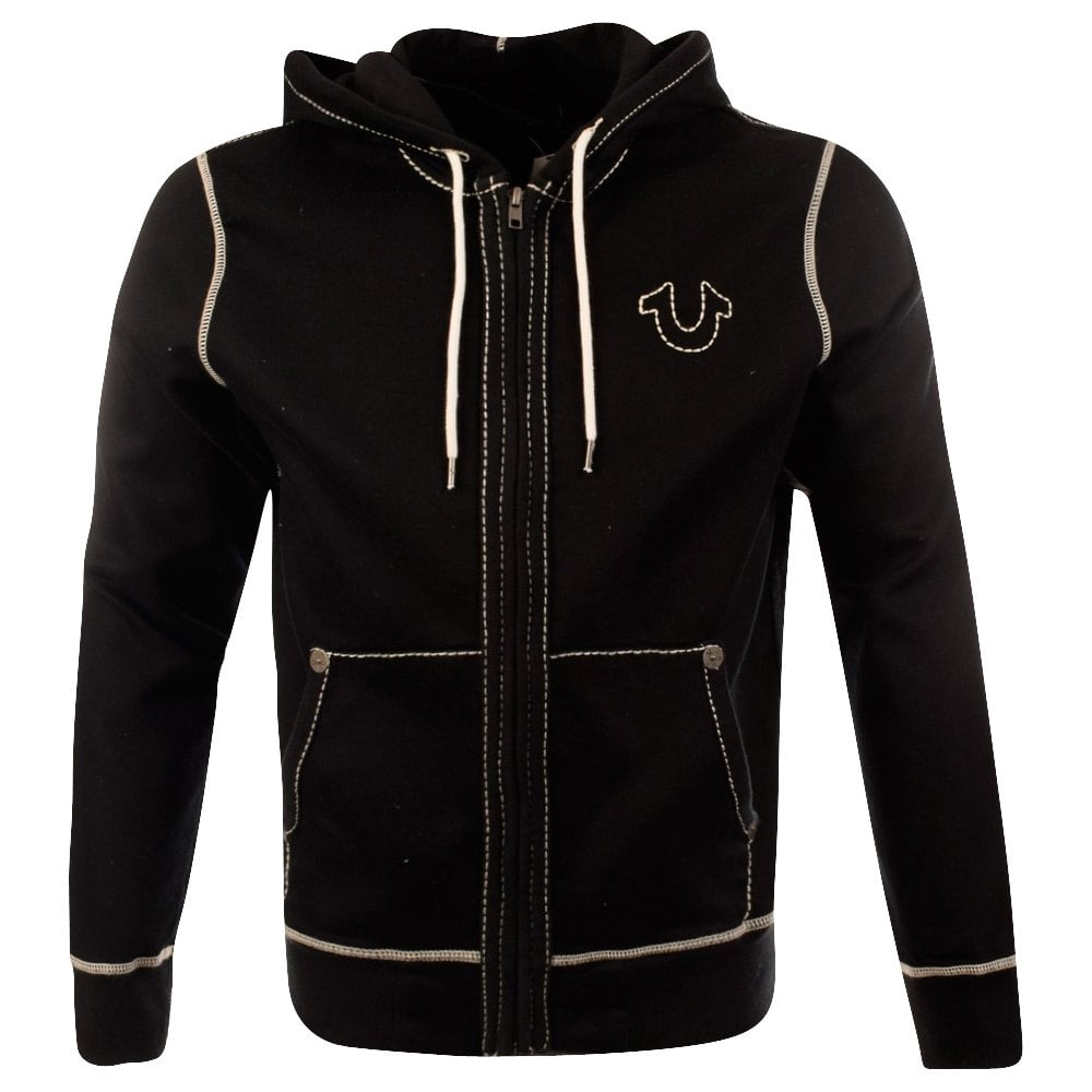 true religion true religion black horseshoe hoodie men from brother2brother uk. Black Bedroom Furniture Sets. Home Design Ideas