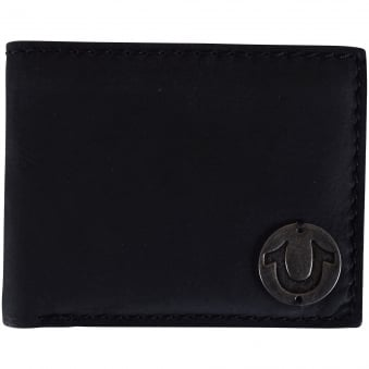 True Religion Black Leather Logo Wallet