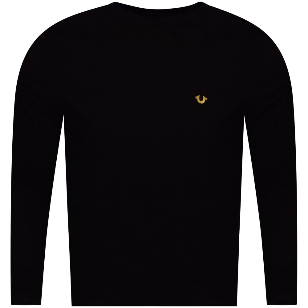 6c4abbccfb2 TRUE RELIGION True Religion Black Long Sleeved Metal Logo T-Shirt ...