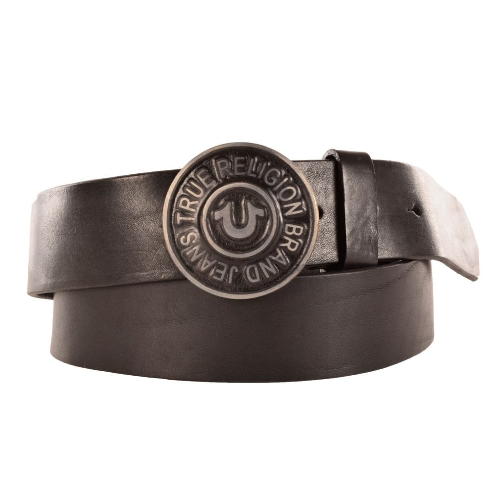 d9936e300 TRUE RELIGION True Religion Black Soft Calf Leather Belt ...