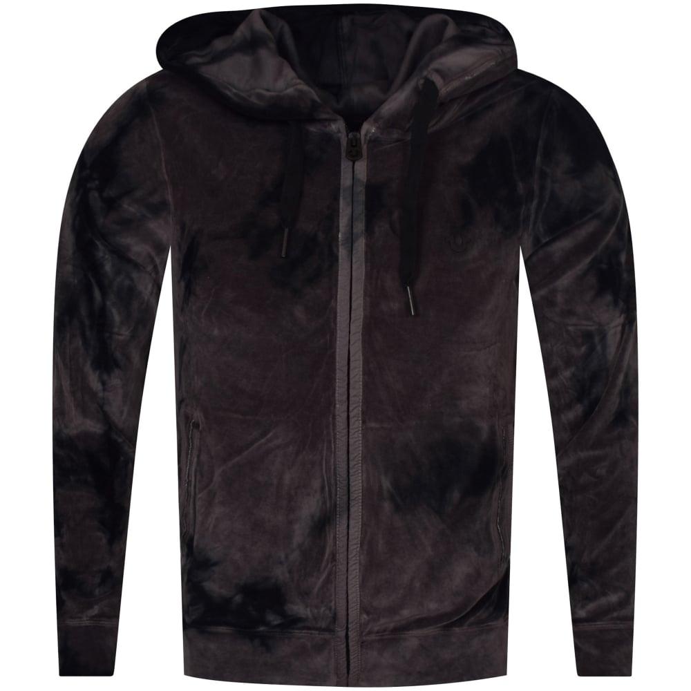 e8900d378 TRUE RELIGION True Religion Black Velvet Camo Hooded Jacket ...