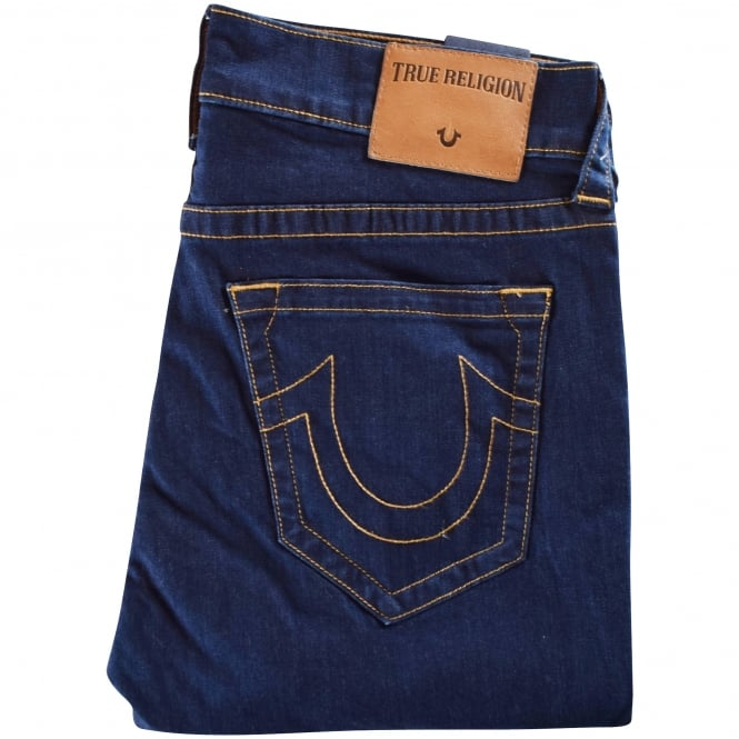TRUE RELIGION Blue Rocco No Flap Relaxed Skinny Jeans
