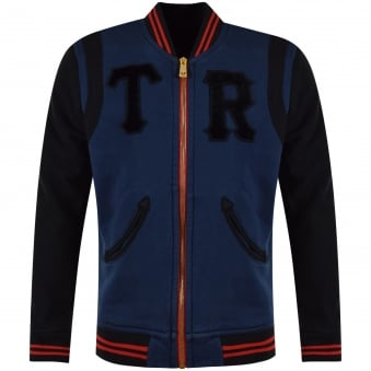 True Religion Blue Zip Through Jacket