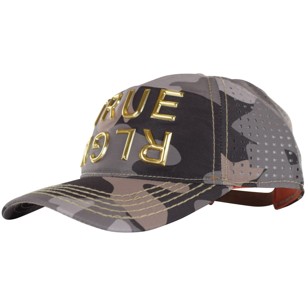 true religion true religion camo perforated strapback cap men from brother2brother uk. Black Bedroom Furniture Sets. Home Design Ideas