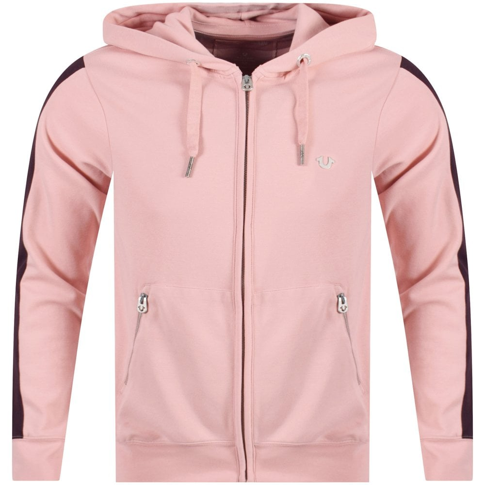 620fc15ede TRUE RELIGION True Religion Chalk Pink Purple Metal Horseshoe Hoodie ...