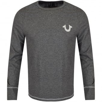 True Religion Dark Grey Crafted with Pride Long Sleeve T-Shirt