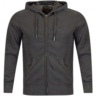 True Religion Dark Grey Metal Logo Hoodie