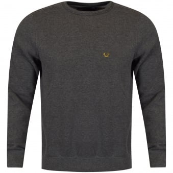 True Religion Dark Grey Metal Logo Sweatshirt