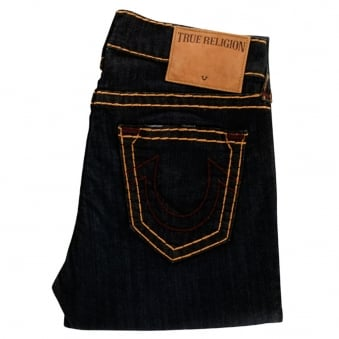 True Religion Dark Wash Relaxed Slim Geno Jeans
