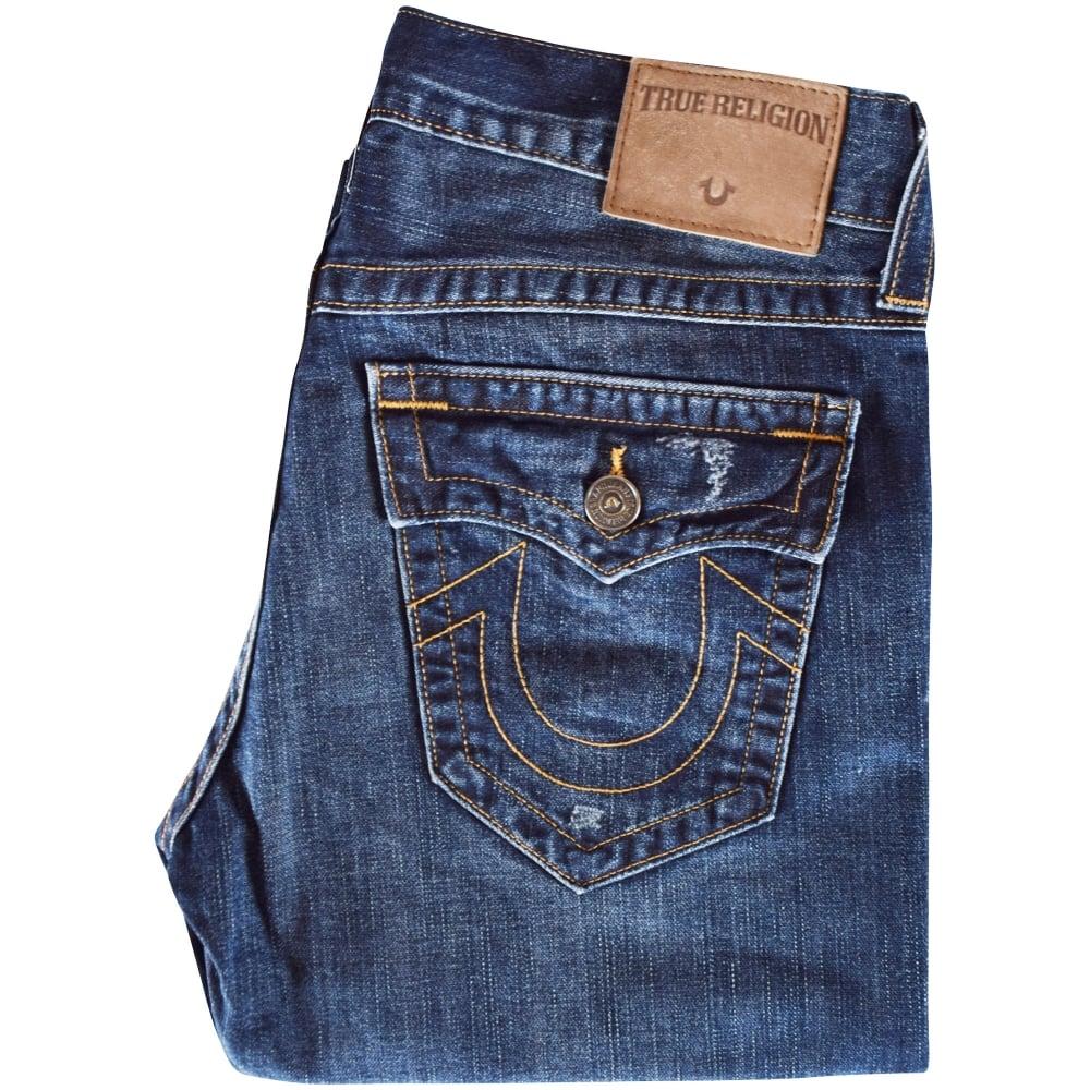 2f3617f06 TRUE RELIGION True Religion Dark Wash Ricky Straight Fit Jeans ...