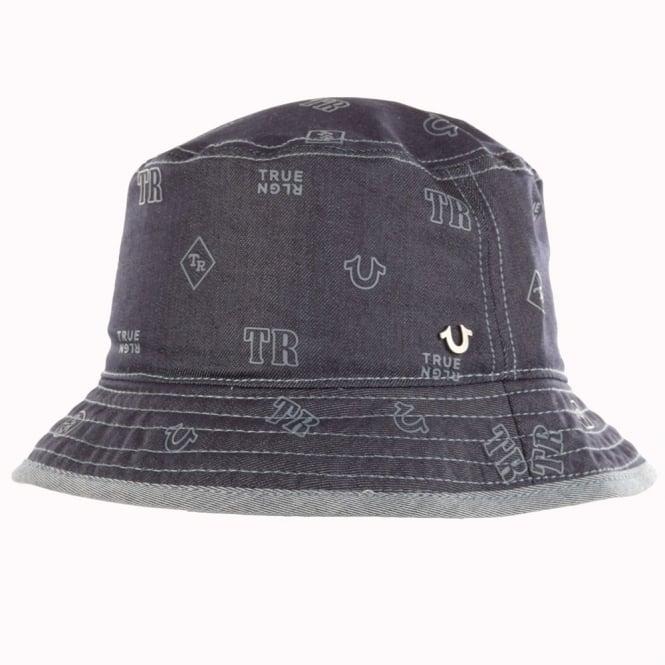 82a0067526876 TRUE RELIGION True Religion Denim All-Over Print Bucket Hat - Men ...