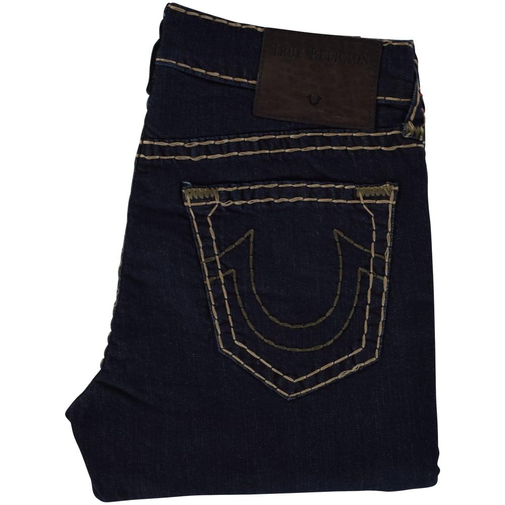 6d53402ee TRUE RELIGION True Religion Geno Relaxed Slim Dark Blue Jeans ...