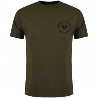 True Religion Green Logo T-Shirt