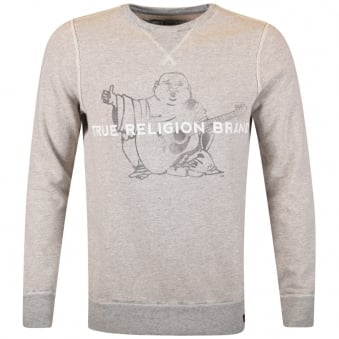 True Religion Grey Buddha Logo Sweatshirt