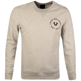 True Religion Grey Crafted With Pride Sweatshirt