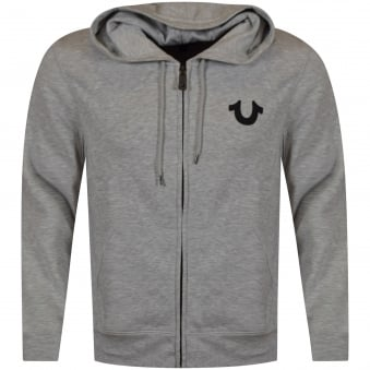 True Religion Grey Crafted with Pride Zip Up Hoodie