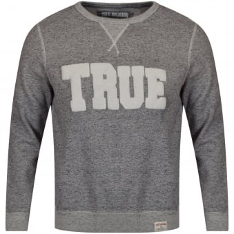 True Religion Grey Crew Neck Sweatshirt