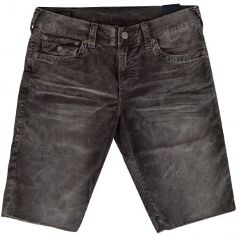 True Religion Grey Ricky Corduroy Shorts