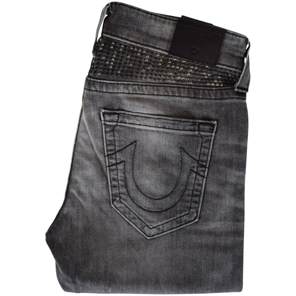 28b11f047 TRUE RELIGION True Religion Grey Rocco Studded Skinny Jeans - Men ...