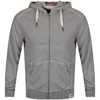 True Religion Grey Zip Hood Detailing