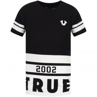 Black/White Multi Line Print T-Shirt