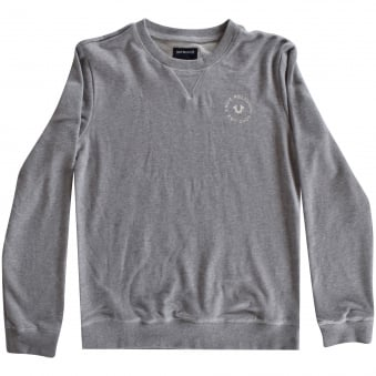 True Religion Junior Grey Crafted with Pride Sweatshirt