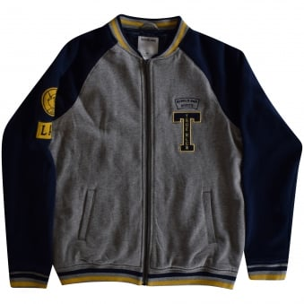 True Religion Junior Grey/Navy Zip Up Jacket