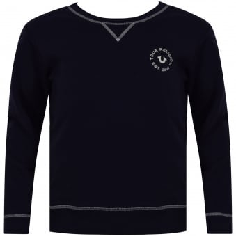 True Religion Junior Navy Crafted with Pride Sweatshirt